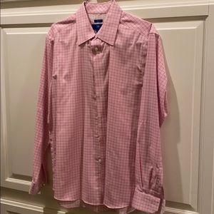 Men's Egara pink button down